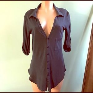 Brandy Melville navy blue button down